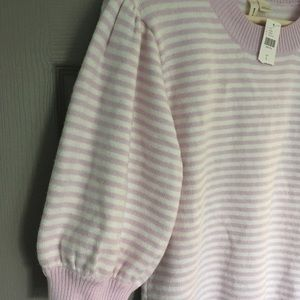 NWT ANTHROPOLOGIE MOTH striped Sweater L